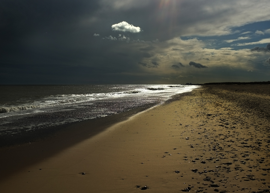 The beach Southwold. Photograph by Tim Irving