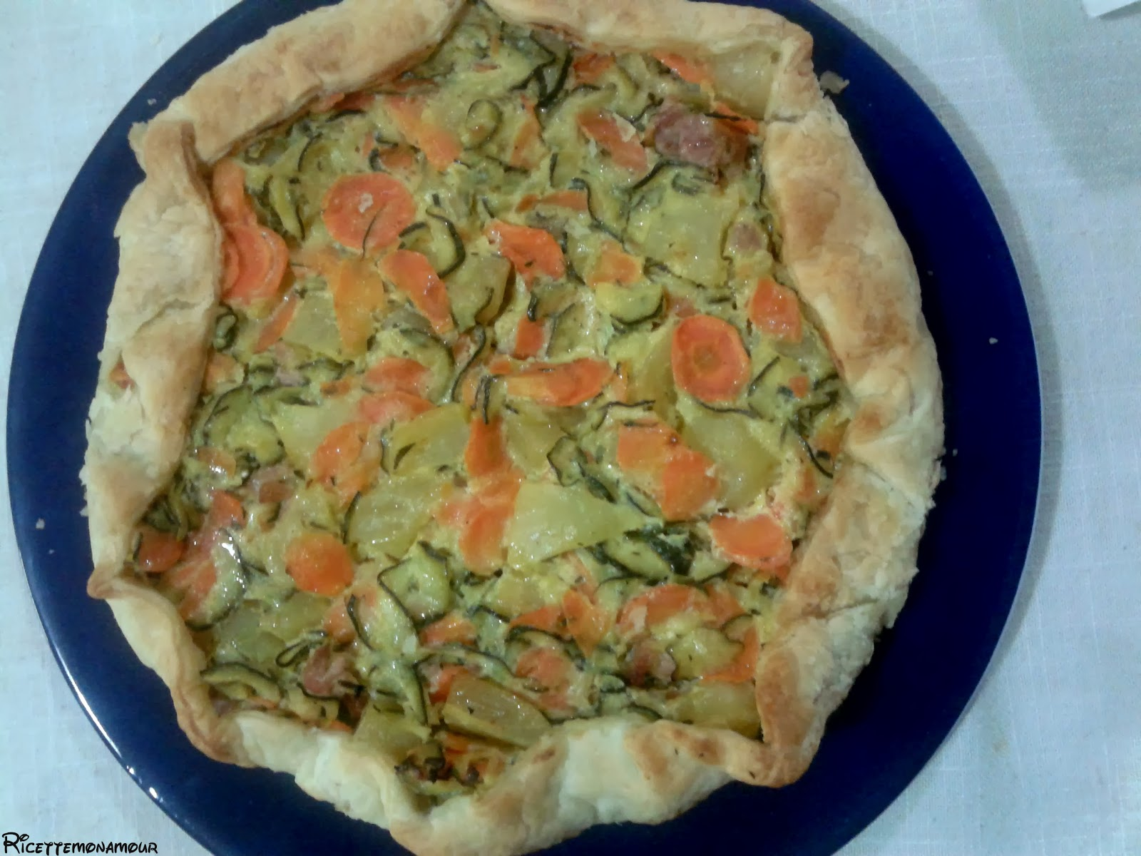 torta salata con verdure, ricetta light
