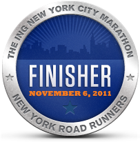 NYC Marathon Finisher Badge