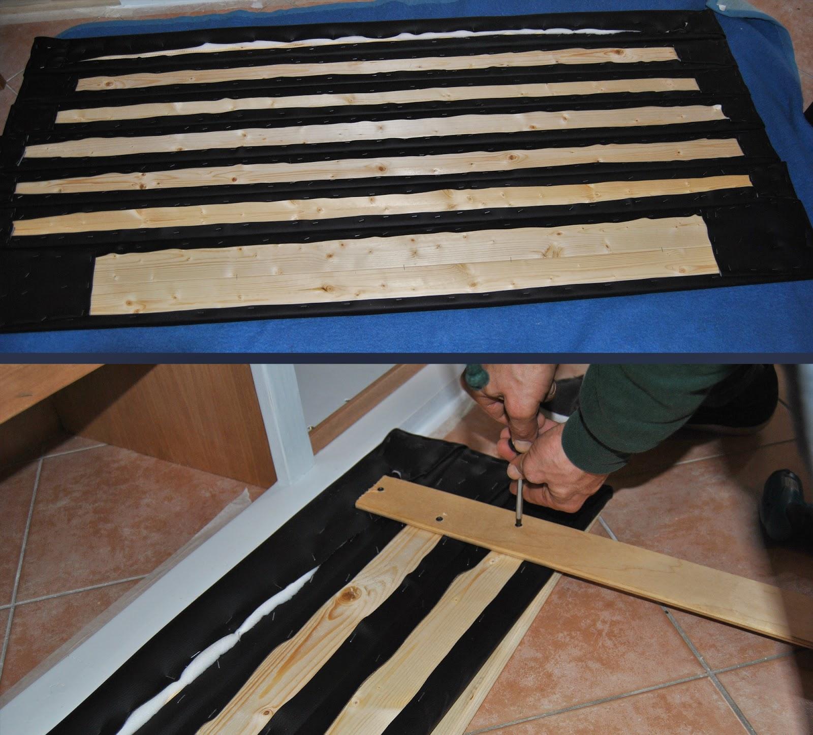Testata del letto diy all good things handmade - Lettino attaccato al letto ...