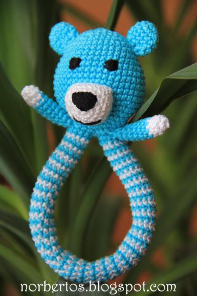 Crochet Teddy Bear rattle