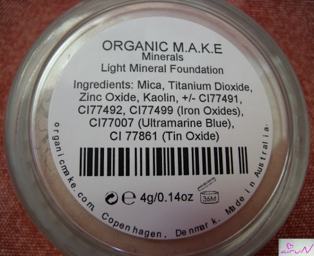 ingredientes organic make