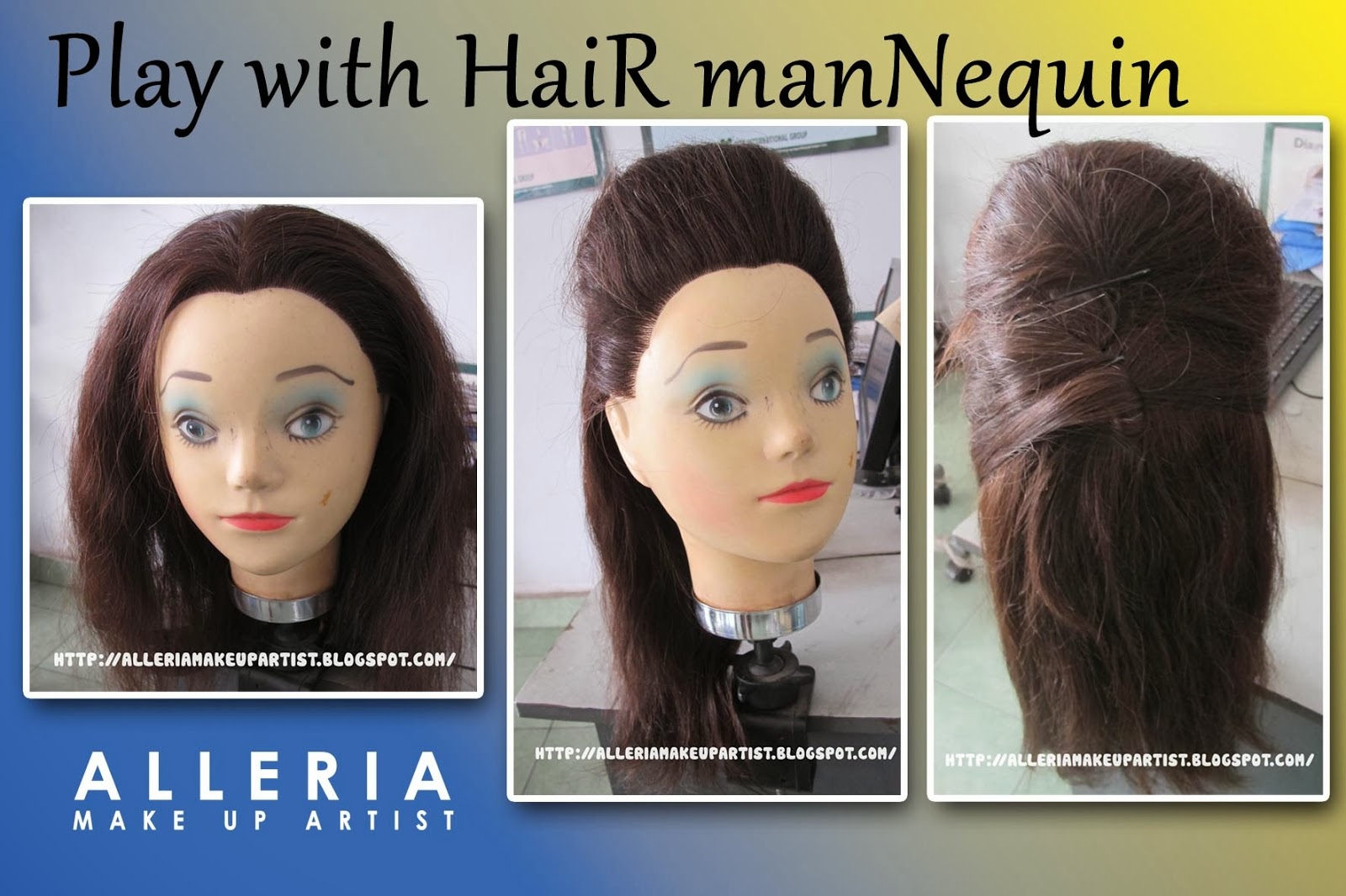 PLAY WITH HAIR MANNEQUIN | alleriamakeupartist