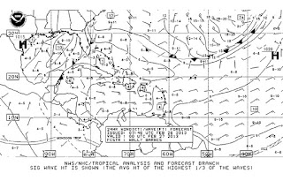 Sample NOAA radiofax / weather fax image