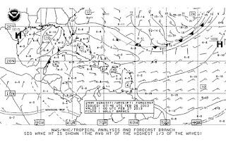 Sample NOAA radiofax / weather fax image