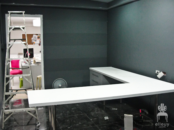 dark room, black room, room makeover, office makeover