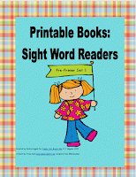 printable, early literacy, sight words, reader, home library