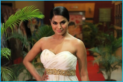 Veena Malik Photos in white dress