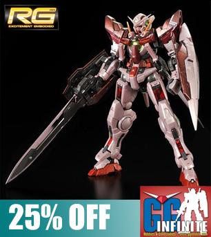 RG 1/144 Gundam Exia (Trans-Am Mode) Gloss Injection Ver. [P-Bandai Exclusive]