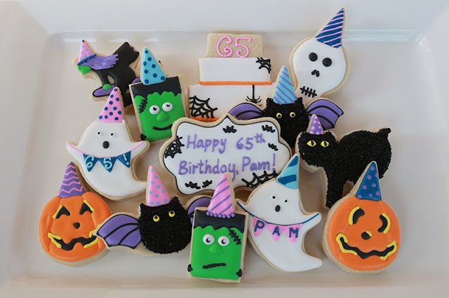 Halloween birthday cookie platter