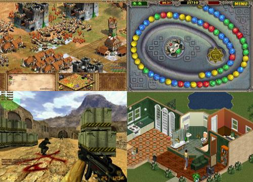 Age of Empire, Counter Strike, The Sims