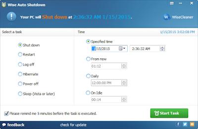 Wise Auto Shutdown 1.46 Gratis terbaru