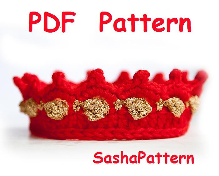 Sasha Patterns: Crochet Baby Crown Pattern Easy level crochet, baby ...