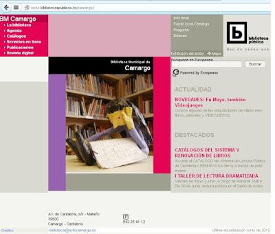 http://www.bibliotecaspublicas.es/camargo/
