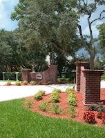 Brick Driveway Columns