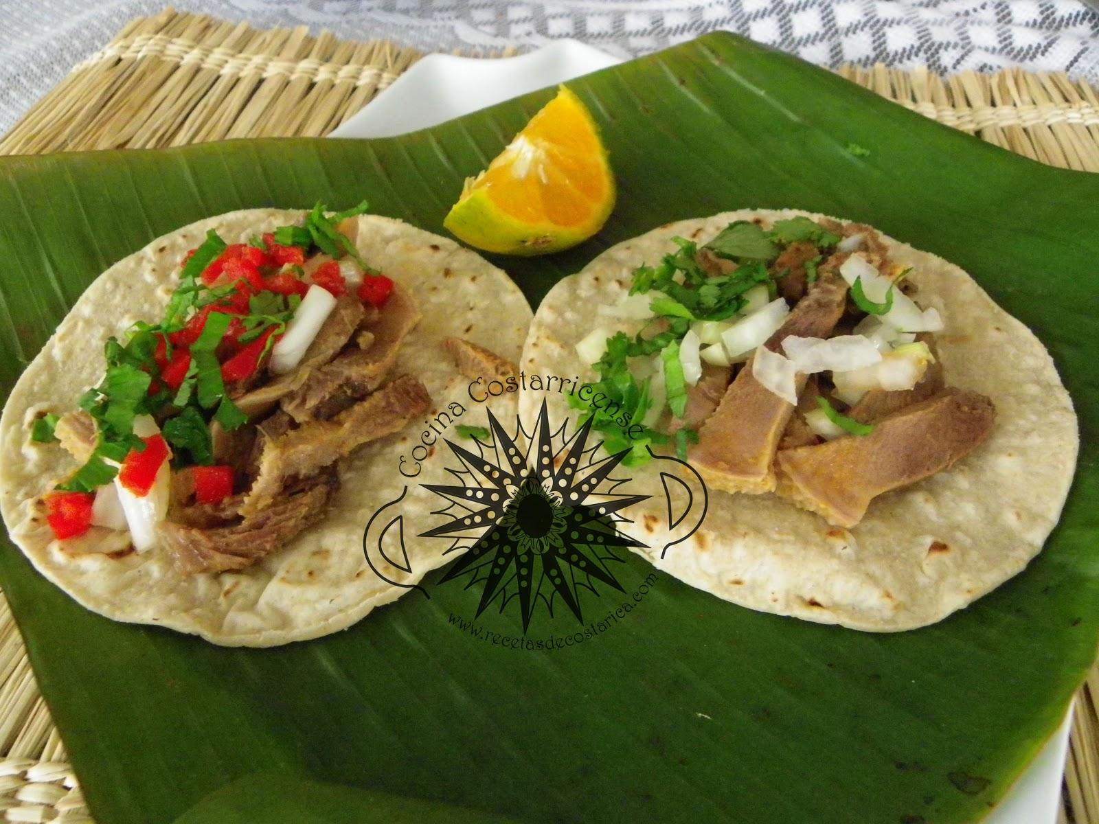 Cocina Costarricense: tacos de lengua