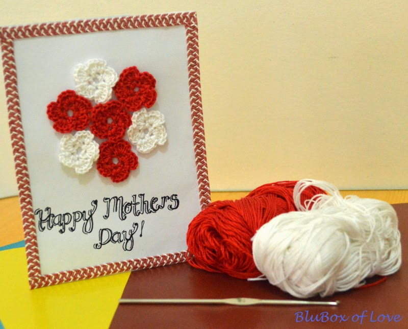 Mother's Day Card with yarns and hook