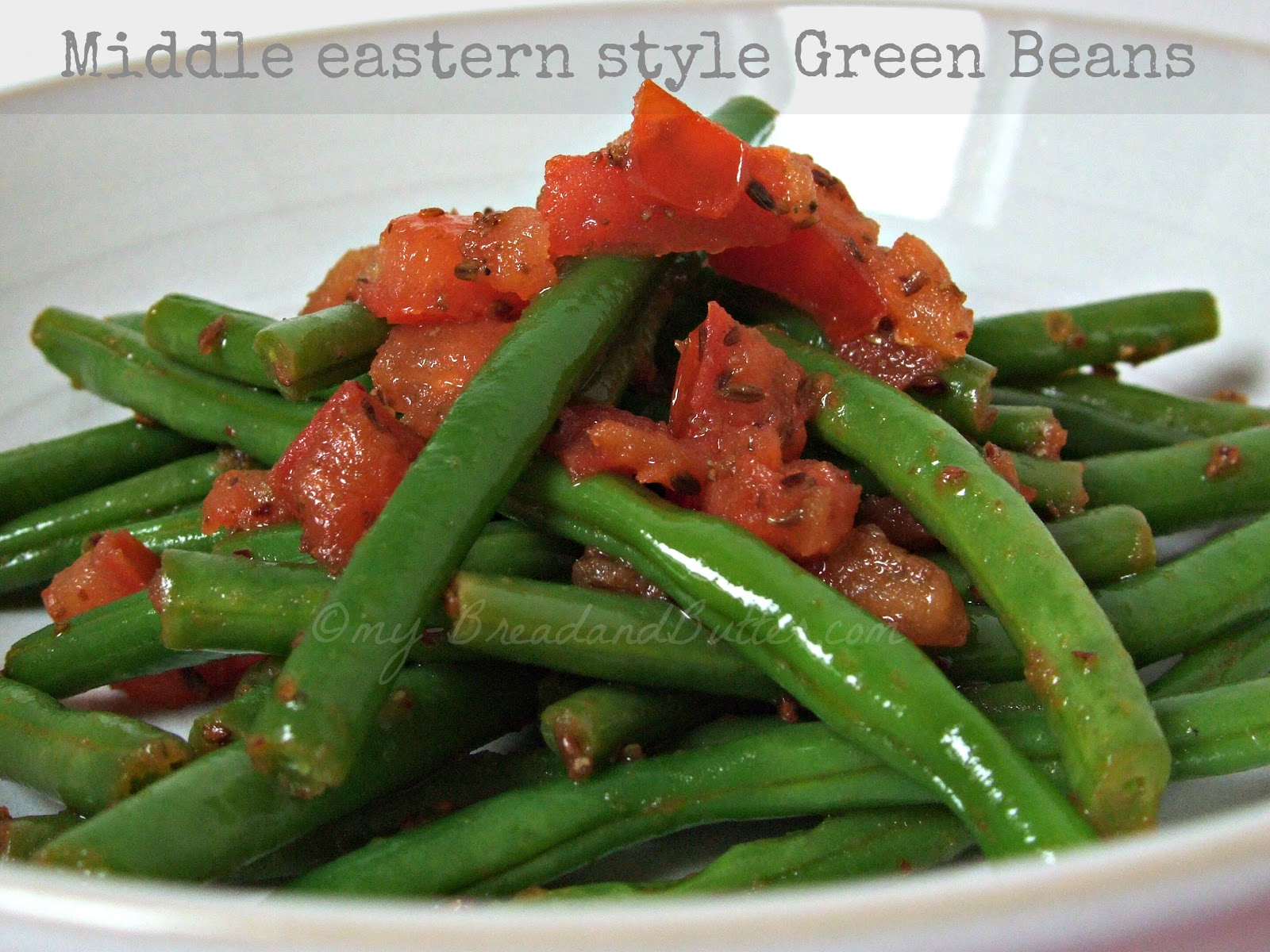 Bread and butter middle eastern style green beans for Style green