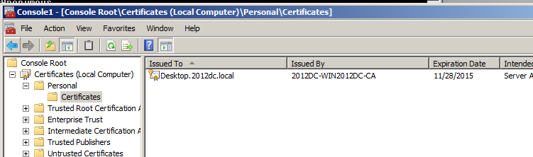 Vmware view certificates and thumbprints man in the middle issue the certificate is added to the store as you can see in the picture above yadclub Image collections