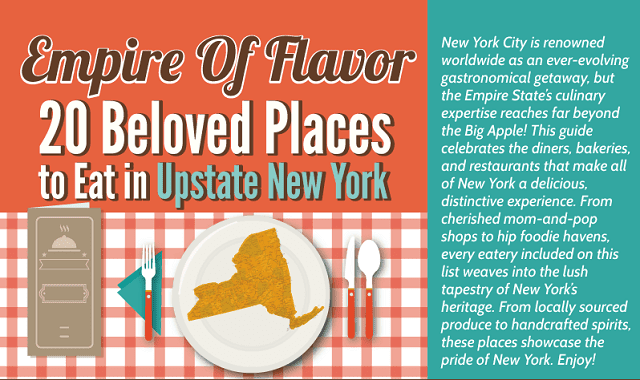 Empire of Flavor: 20 Beloved Places to Eat in Upstate New York