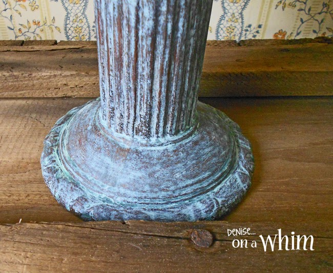 Aged Blue Terracotta Pot with Modern Masters Metal Effects Paints | Denise on a Whim