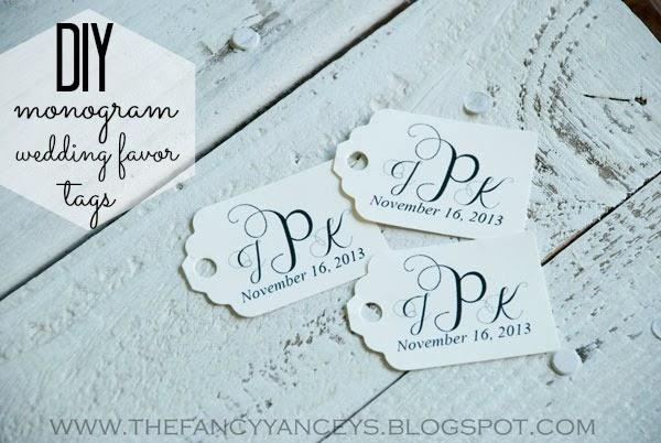 Girls of God\'s Heart: DIY monogram wedding favor tags