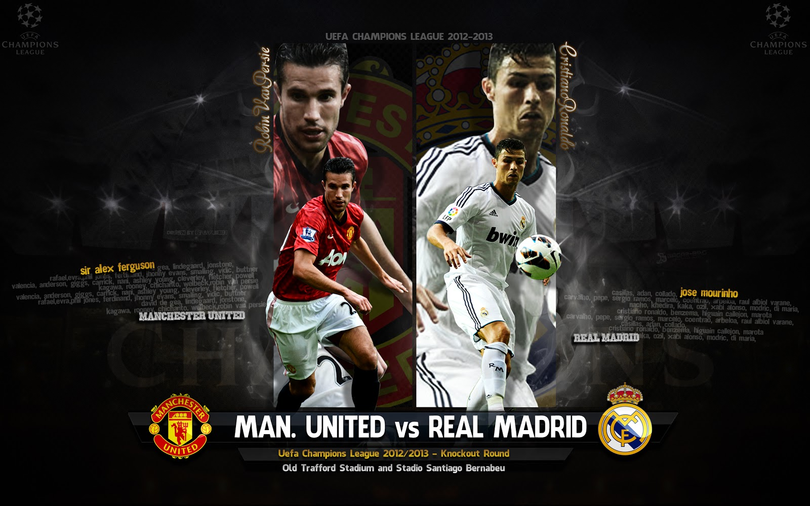 Manchester United  1  Vs Real Madrid  1