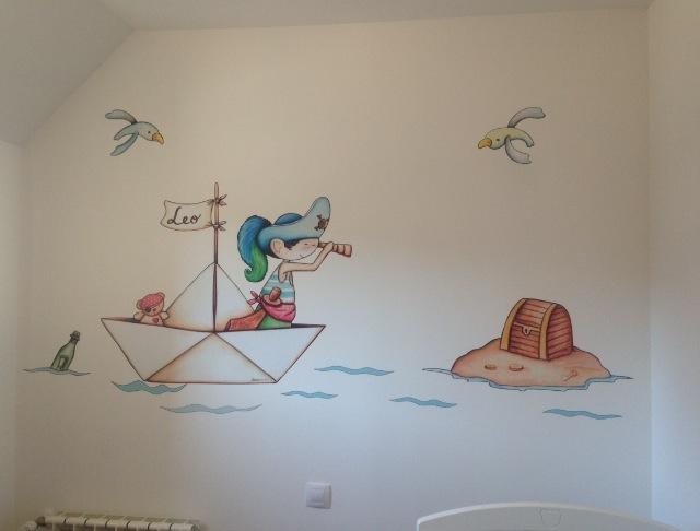 Decopared vinilos infantiles para bebes - Murales de pared pintados a mano ...