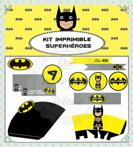 kit imprimible superhéroes-batman
