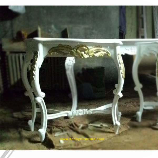 Meja konsul,meja ukiran jepara, furniture putih , vintage shabby chic, mebel klasik