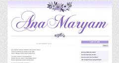 Tempahan Design Blog Ana Maryam