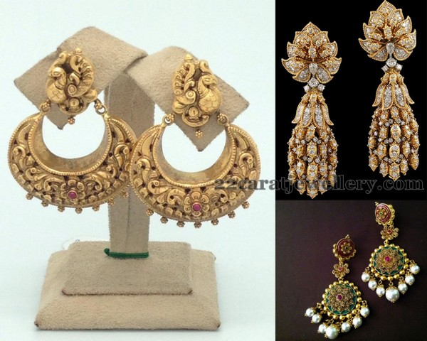 Antique Kundan Chandbalis and Hangings