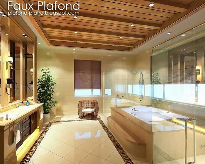 Faux plafonds bois