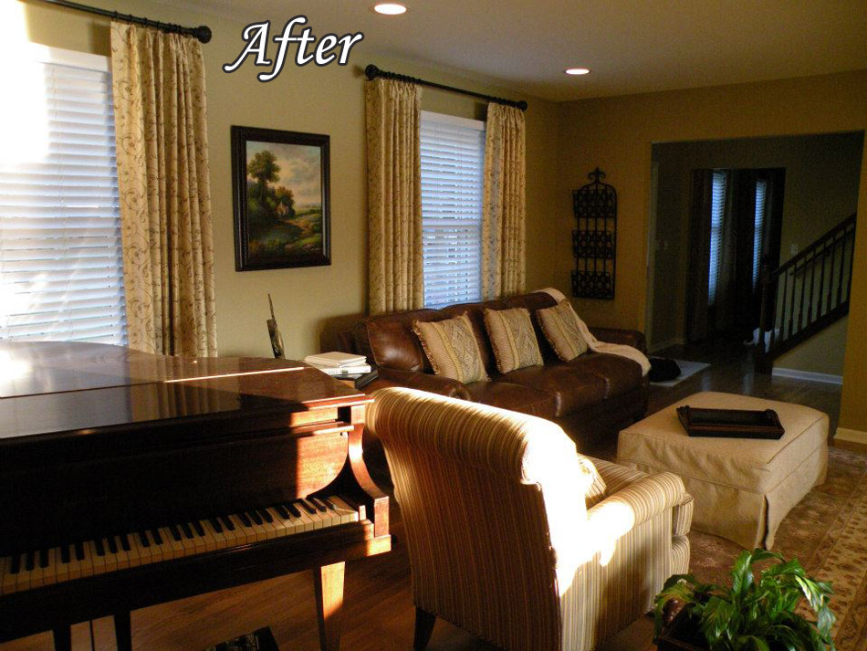 Personified interiors living room before and after - Before and after living rooms ...