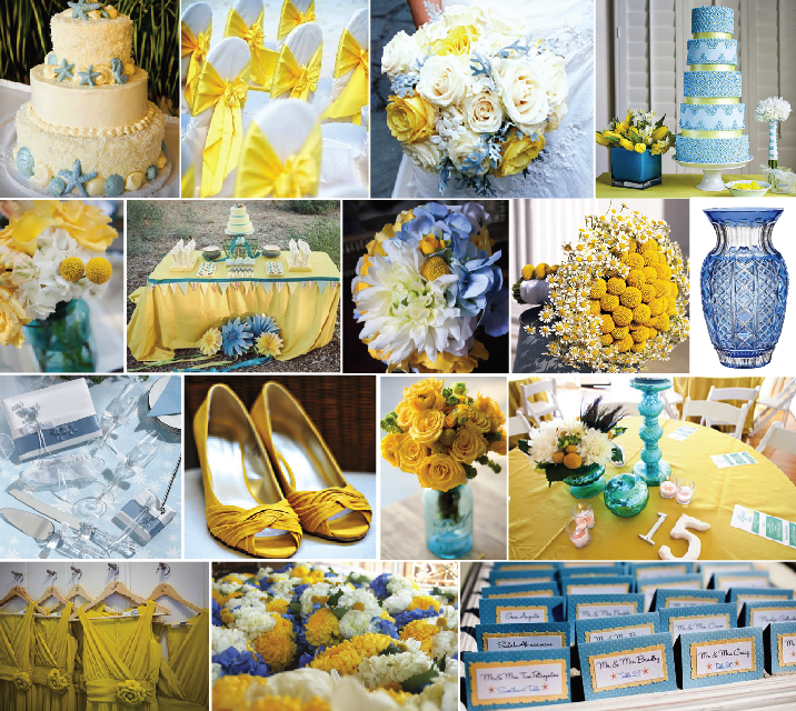 Ideas by andrea summer event color combinations part 3 for Blue and yellow paint combinations