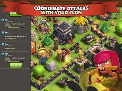 Clash of Clans v8.709.2 Mod Hack APK (Unlimited Gold Infinite Gems Dark Elixir/ Unlimited Money) Update Terbaru 2016