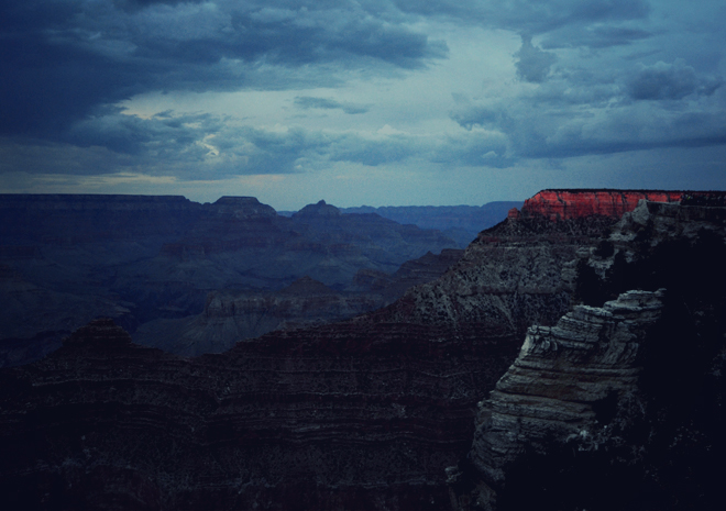 The Flying Clubhouse: Grand Canyon I, dusk