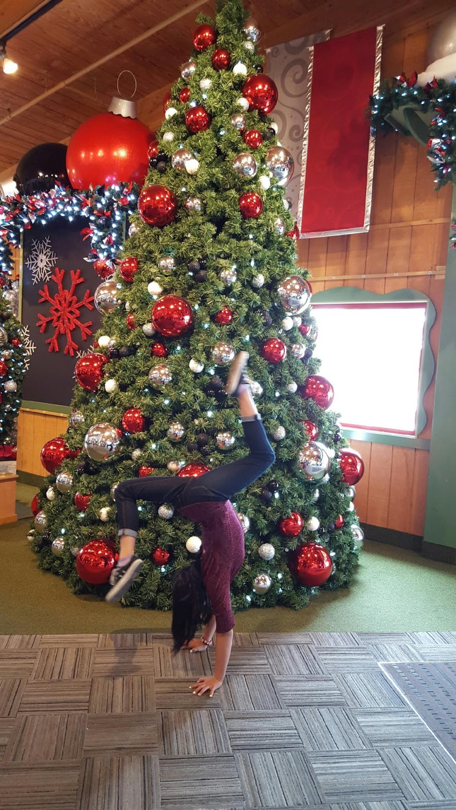 bronners christmas wonderland is 27 acres wow such a neat place to have a handstand picture thank you to one of the coral girls for capturing this - Largest Christmas Store