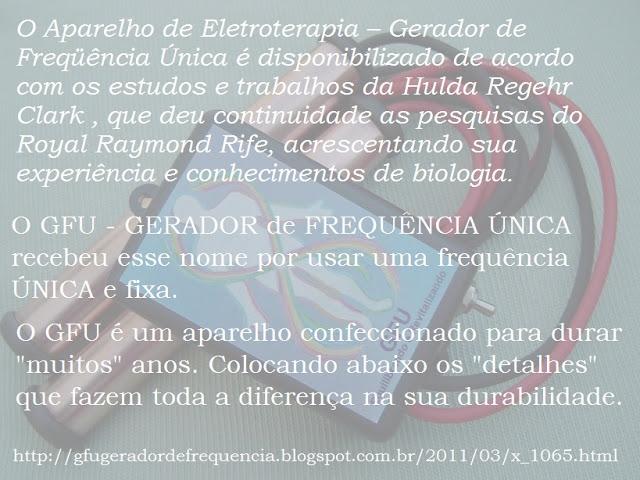 Clicando nessa imagem você vai para o blog GFU - GERADOR de FREQUÊNCIA ÚNICA - Ap. de Eletroterapia