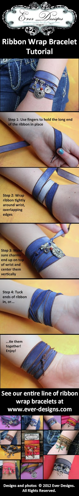 Ribbon Wrap Bracelet Tutorial