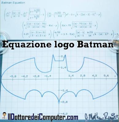 equazione logo batman