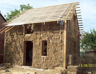Дом каркасный под Полтавой из соломы
