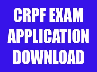 CRPF Exam Application Form 2013 - 2014, Constable Job, 815 Posts