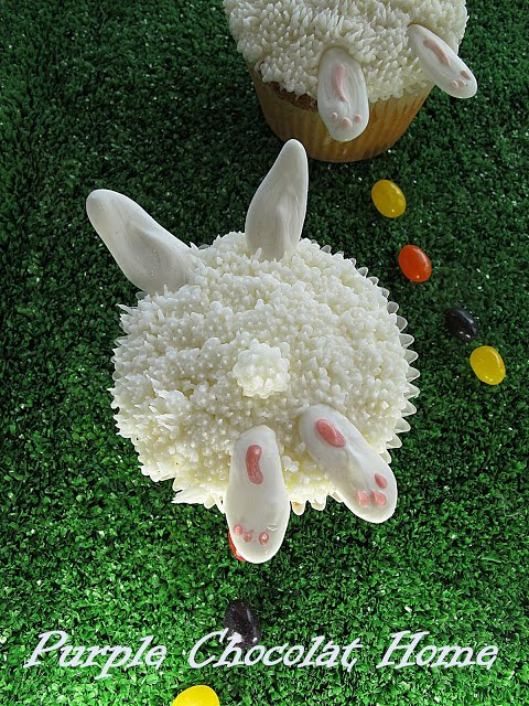 Bunny Bottom Cupcakes