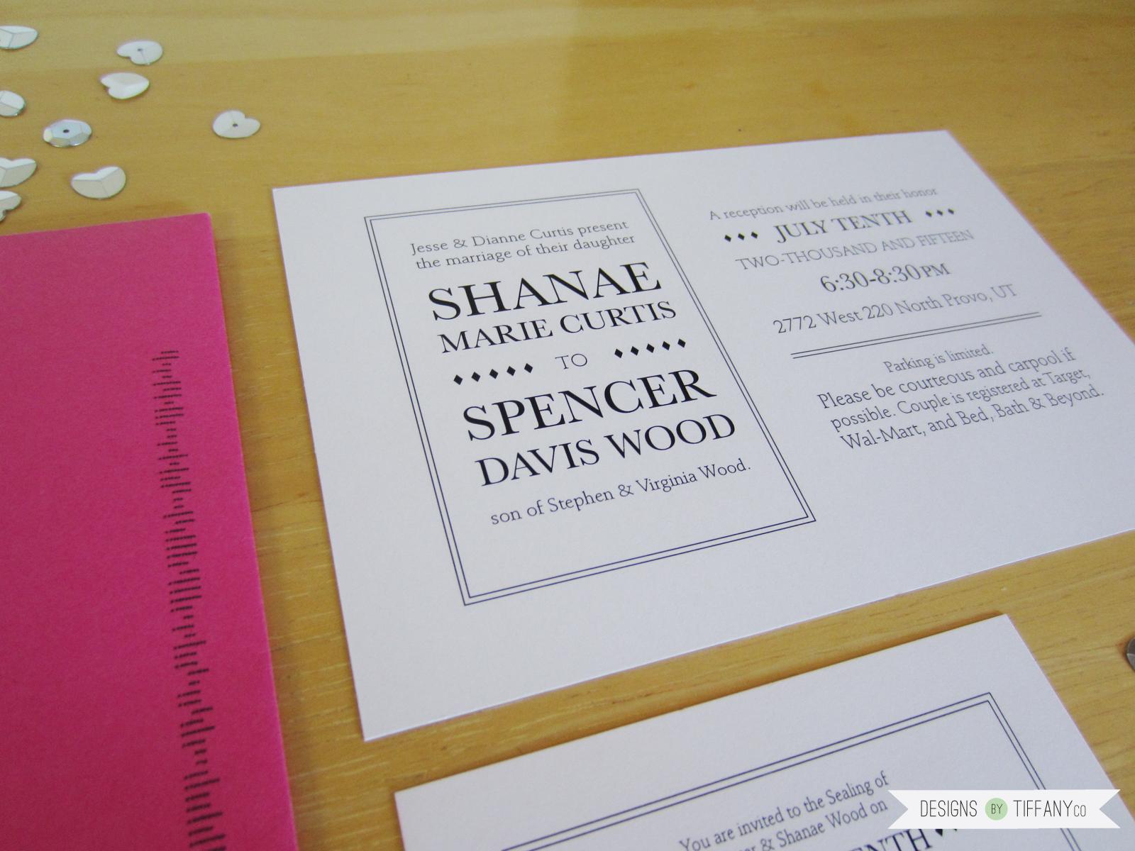 Custom Wedding Invitation - Designs by TiffanyCo
