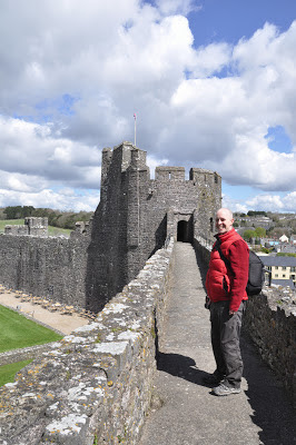 One of the walkways at Pembroke Castle
