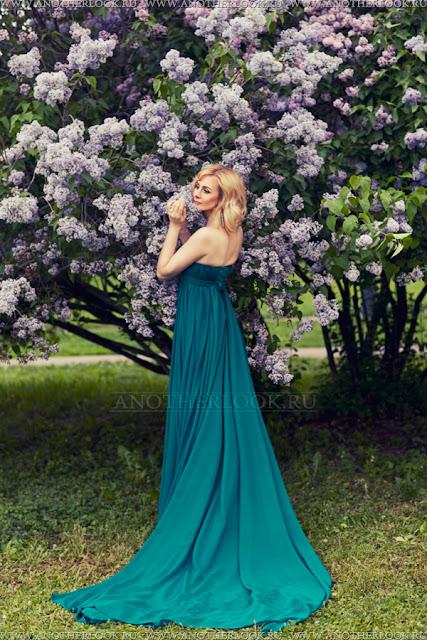 красивое зеленое платье для фотосессии