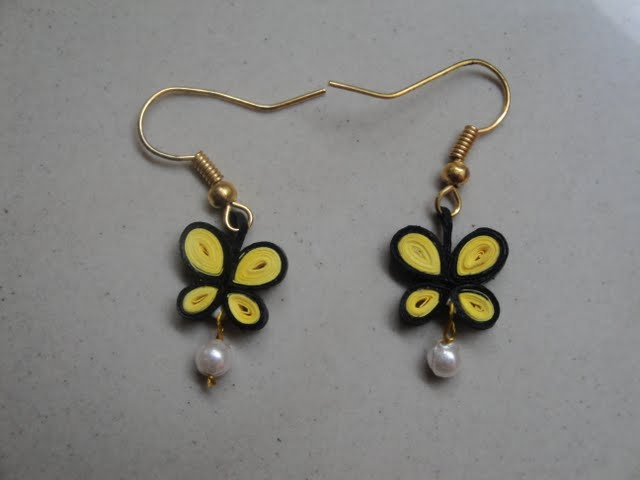 Quilling Earring Designs Butterfly : Support Handmade: Quilling Accessories and jewels