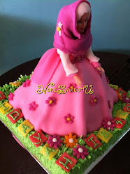 Labuan Cake - Barbie Cake with platform cake