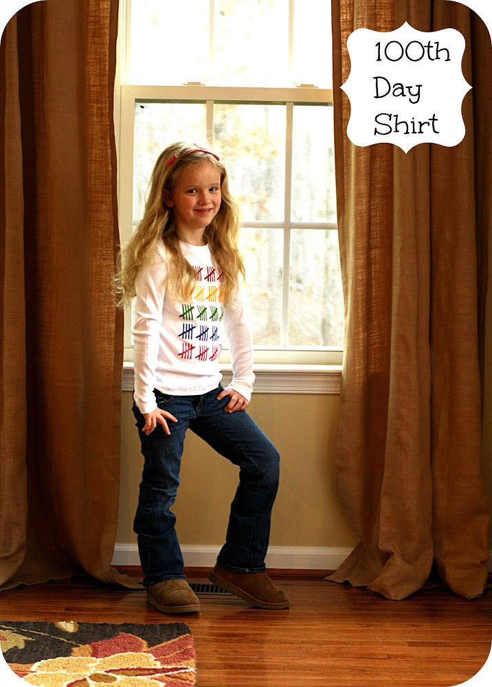 tally mark 100th day of school shirt